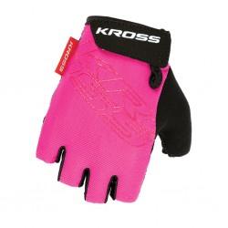 Rękawiczki rowerowe KROSS Depart Lady Pink