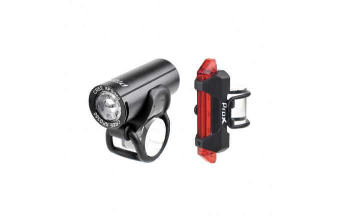 Zestaw lamp PROX Pictor Set Cree 350+10lm USB