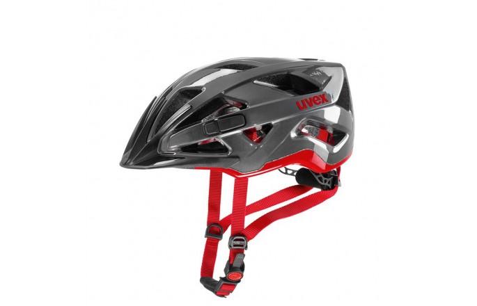 Kask rowerowy UVEX Active antracyt - czerwony