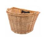 Koszyk przedni wiklinowy De One Naturalny
