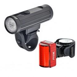 Zestaw lampek rowerowych PROX Hamal + Zeta S 600lm/80lm USB