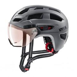 Kask rowerowy UVEX Finale Visor V Strato Steel Mat