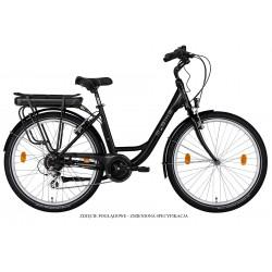Rower elektryczny M_Bike E-City 728 Black