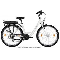Rower elektryczny M_Bike E-City 728 White